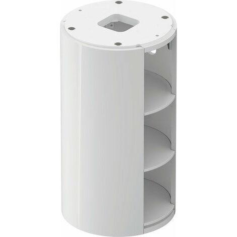 Duravit White Tulip, meuble sous-vasque sur pied, largeur 350 x profondeur 410mm, avec compartiment ouvert, avec technologie tip-on, WT42390, Coloris: Corps : Blanc brillant, Façade : Noyer américain massif - WT423907785