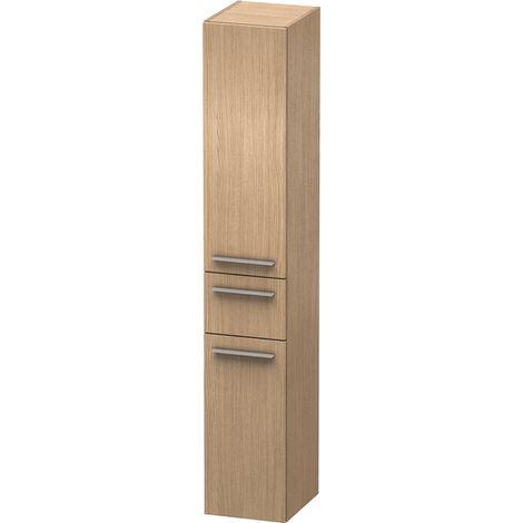 Duravit X-Large Armario alto 1128, 2 puertas de madera, 1 cajón central, con bisagras a la izquierda, 300mm, Color (frente/cuerpo): Flanela Gris seda lacado mate - XL1128L9090