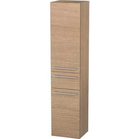 Duravit X-Large Armario alto 1131, 2 puertas de madera, 1 cajón central, con bisagra a la izquierda, 400mm, Color (frente/cuerpo): Flanela Gris seda lacado mate - XL1131L9090