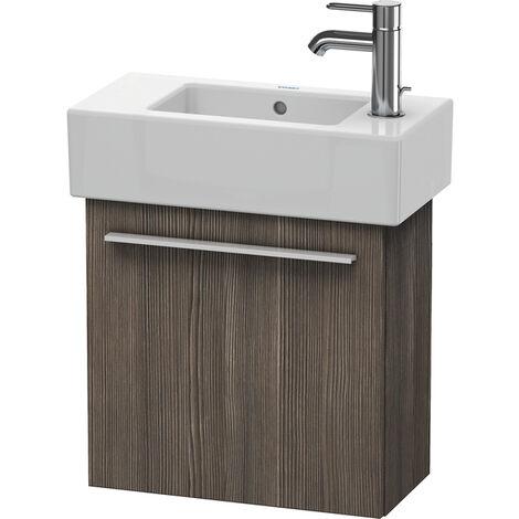 Duravit X-Large Mueble de lavabo de pared 6208, 1 puerta de madera, con bisagra a la izquierda, 450mm para Vero, Color (frente/cuerpo): Flanela Gris seda lacado mate - XL6208L9090