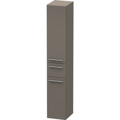 Duravit X-Large Tall cabinet 1128, 2 wooden doors, 1 central drawer, left-hinged, 300mm