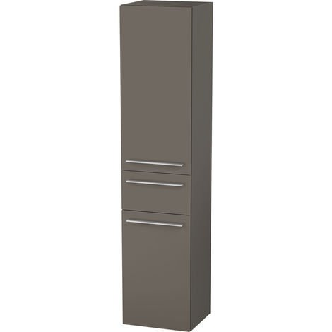 Duravit X-Large Tall cabinet 1131, 2 wooden doors, 1 central drawer, left-hinged, 400mm