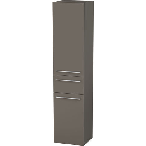 Duravit X-Large Tall cabinet 1131, 2 wooden doors, 1 central drawer, right-hinged, 400mm