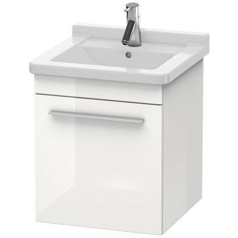 Duravit X-Large Unidad de lavabo de pared 6525, tope a la derecha, 440mm para Starck3, Color (frente/cuerpo): Flanela Gris seda lacado mate - XL6525R9090