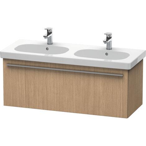Duravit X-Large vanity unit wall hung 6050, 1 cajón, 1150mm para el código D, Color (frente/cuerpo): Flanela Gris seda lacado mate - XL605009090
