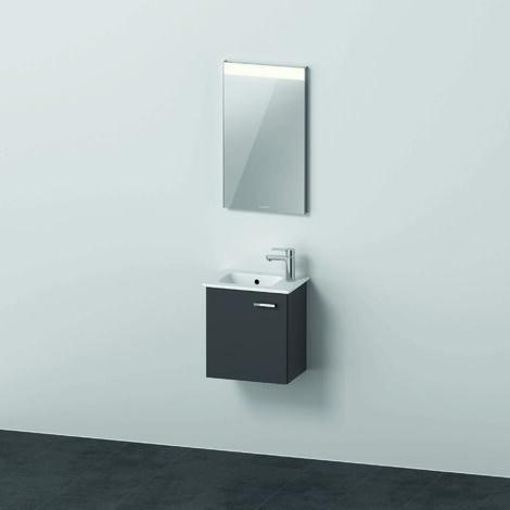 Duravit Xbase, ensemble de meubles muraux, avec armoire de toilette LED, lavabo et meuble sous-vasque, largeur 1200 mm, XB00670, Coloris: Blanc brillant - XB006704545