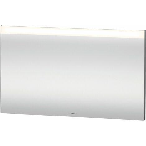 Duravit Xbase, ensemble de meubles muraux, avec miroir LED, lavabo et meuble sous-vasque, largeur 400 mm, XB0065R, Coloris: Décor marron foncé - XB0065R5353