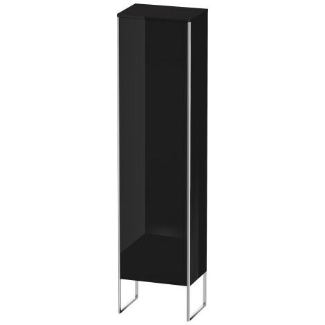 Duravit XSquare tall cabinet vertical 50.0x35.6 cm, 1 door, right door hinge, 4 glass shelves, Colour (front/body): White high gloss lacquer - XS1314R8585