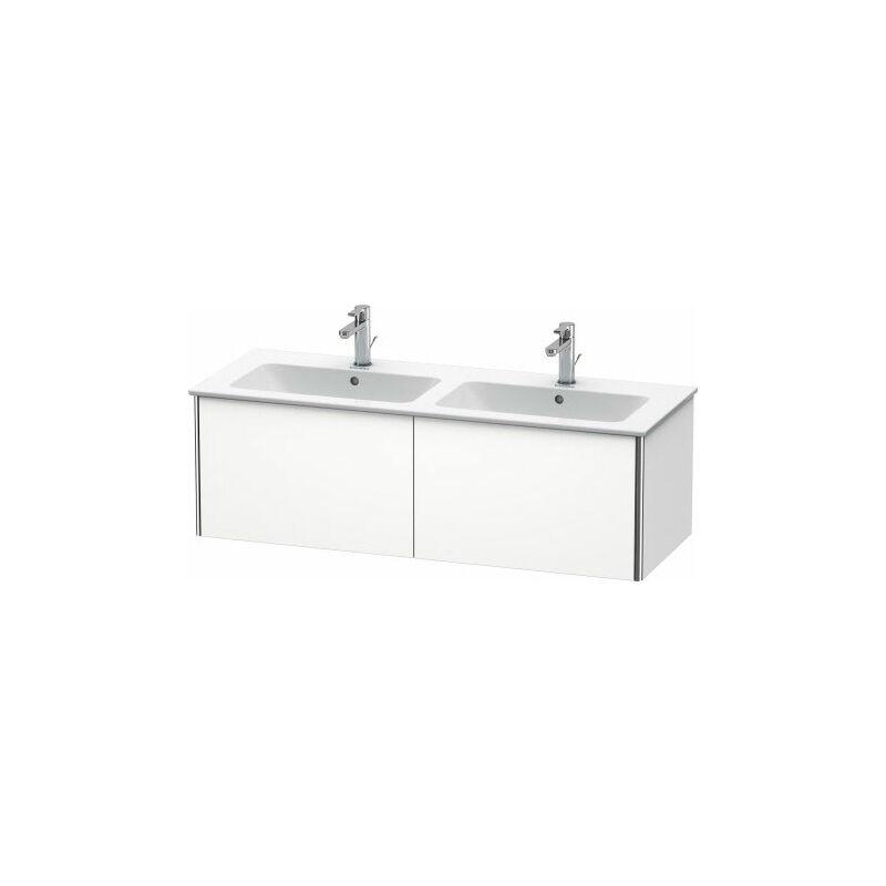 Duravit XSquare Vanity unit unitario de pared 128.0 x 47.8 cm, 2 cajones, para lavabo ME de Starck 233613, Color frente/cuerpo: Nórdico Seda blanca