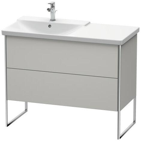 Duravit XSquare Vanity unit vertical, 101.0 x 47.3 cm, 2 drawers, for P3 Comforts 233310, bowl left, Colour (front/body): Basalt Matt Decor - XS446504343