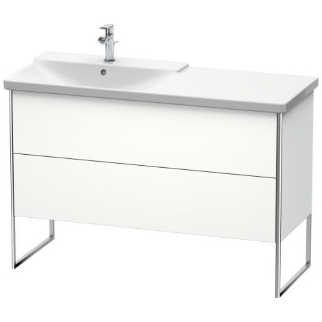 Duravit XSquare Vanity unit vertical, 121.0 x 47.3 cm, 2 drawers, for P3 Comforts 233312, bowl left, Colour (front/body): linen - XS446607575