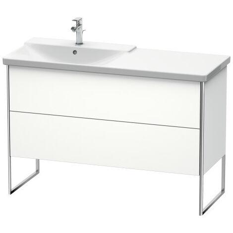 Duravit XSquare Vanity unit vertical, 121.0 x 47.3 cm, 2 drawers, for P3 Comforts 233312, bowl left, Colour (front/body): Stone grey Silk matt Varnish - XS446609292