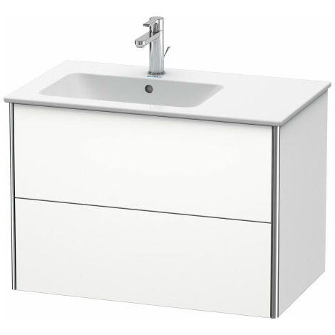Duravit XSquare Vanity unit wall-hung 81.0 x 47.8 cm, 2 drawers, for wash basin ME by Starck 234583, bowl left, Colour (front/body): Jade high gloss lacquer - XS417600303