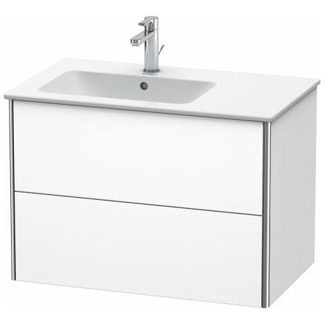Duravit XSquare Vanity unit wall-hung 81.0 x 47.8 cm, 2 drawers, for wash basin ME by Starck 234583, bowl left, Colour (front/body): Taupe silk matt lacquer - XS417606060