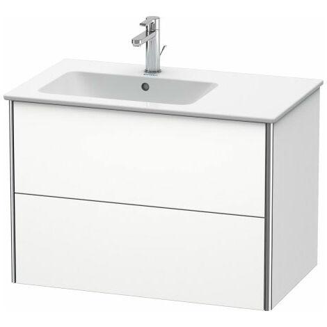 Duravit XSquare Vanity unit wall-hung 81.0 x 47.8 cm, 2 drawers, for wash basin ME by Starck 234583, bowl left, Colour (front/body): White Matt Decor - XS417601818