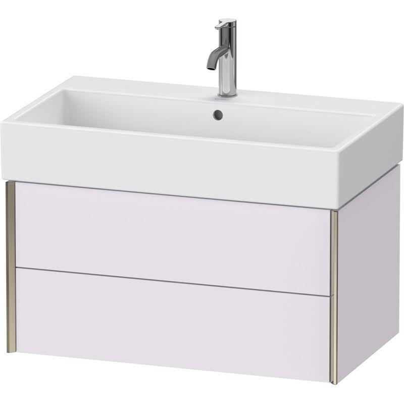 XViu 4336 Mueble mural, 2 cajones, para mueble bajo encimera Vero Air 235080, 784x454 mm, Color frente/cuerpo: champán mate/blanco lila sm.