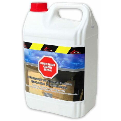 Durcisseur beton ciment de surface réducteur de poussières - DURBÉTON - ARCANE INDUSTRIES - Liquide- Transparent - 5 L - Liquide- Transparent