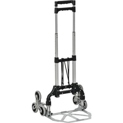 DURHAND Carretilla de Mano Plegable para Escalera Carga 70kg para Entrega Almacenes