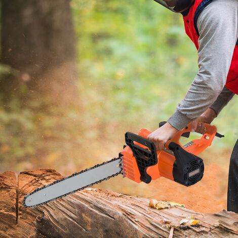DURHAND® Elektro Kettensäge | Motorsäge | Doppelbremsen | 84 x 27 x 20cm | Orange