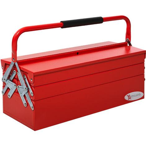 "main image of ""DURHAND Metal Toolbox Storage 3 Tier 5 Tray Storage Organizer w/ Carry Handle"""