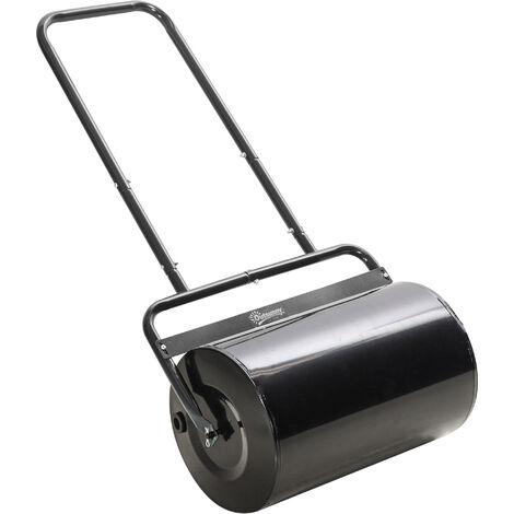 DURHAND® Rasenwalze mit U-Griff Gartenwalze Gartenrolle Wasser-/ Sandfüllung Metall