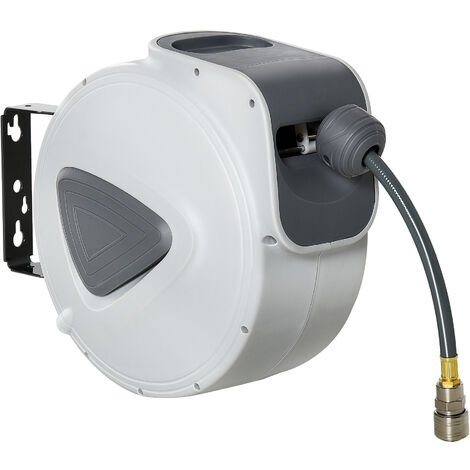 DURHAND Retractable Air Hose Reel Wall Mount Auto Rewind Extension 10m