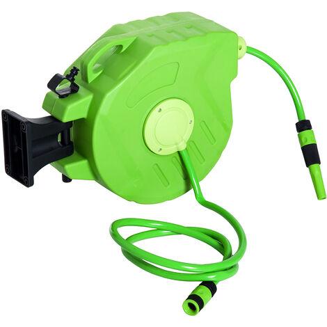 DURHAND® Schlauchtrommel Schlauchaufroller Grün L45 x B21 x H35,5cm - grün