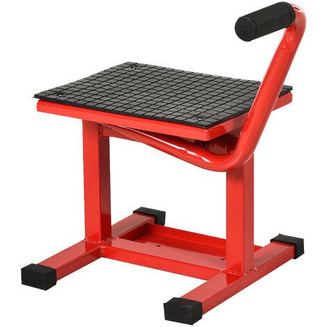 DURHAND Steel Motorbike Jack Lift Rubber Platform Crank Lift Manual Repair Table