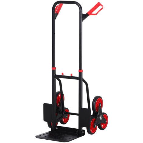 DURHAND® Treppensteiger 150 kg Sackkarre Transportkarre Griff höhenverstellbar Klappbar Stahl 45 x 60 x 109 cm