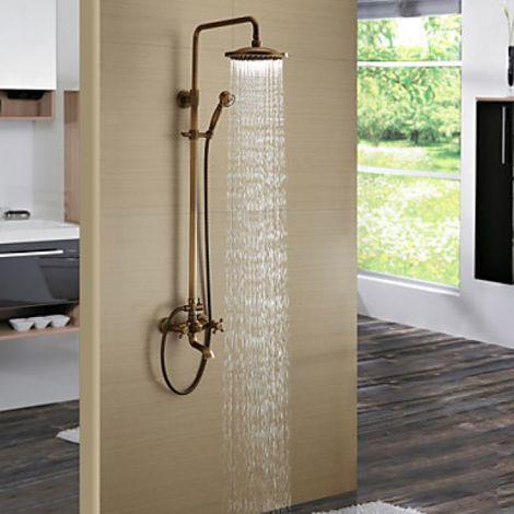 Dusch- und Wannenarmatur aus Antikmessing