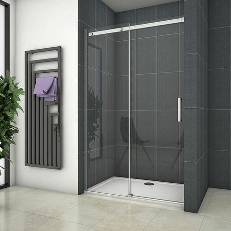 Duschabtrennung 100x195cm Schiebetür Duschkabine Duschwand Dusche 8mm Easyclean ESG Sicherheitsglas