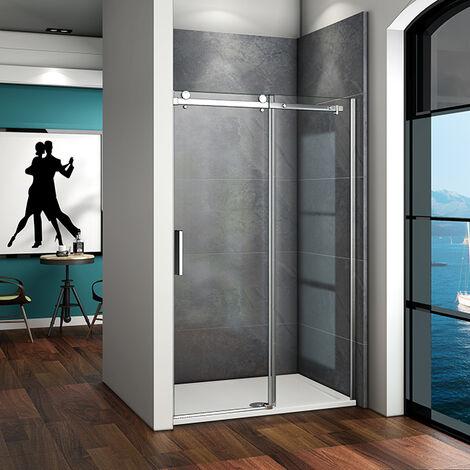 Duschabtrennung 195cm Schiebetür Duschkabine Duschwand Dusche Echtglas