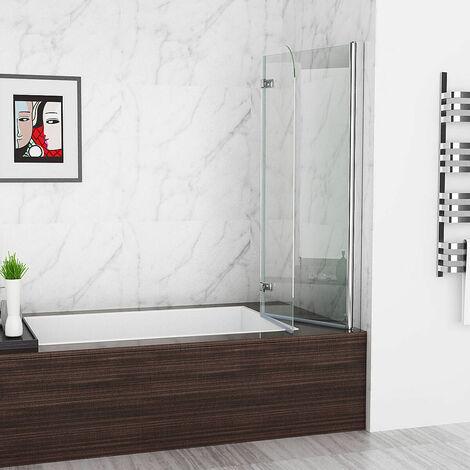 Duschabtrennung Badewannen 2 tlg. Faltwand Aufsatz 180° Duschwand 100 110 120 cm DAY