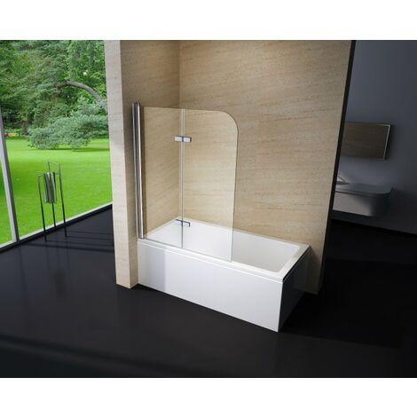 Duschabtrennung Duschwand Badewanne Nano Echtglas EX209 - 1200 x 1400 x 6 mm