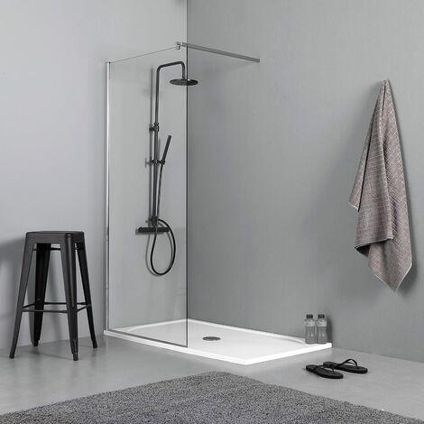 Dusche-Duschwand-Walk in-Begehbar-Bad-ESG-NANO-8-10mm-Glas-Duschtrennwand-200cm