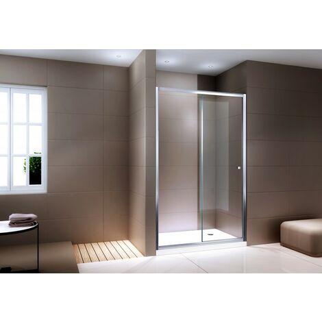 Duschabtrennung Schiebetür NANO Echtglas EX505 - Klarglas - Höhe 195cm - Breite wählbar:1000mm