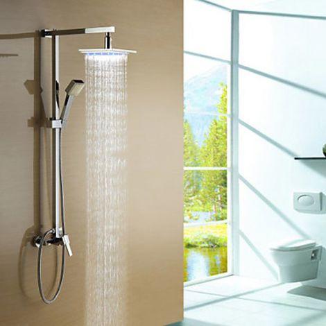 Duscharmatur mit Handbrause, LED-Licht und Wasserfalleffekt