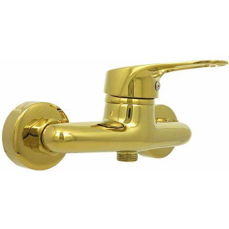 Duscharmatur Retro Brausearmatur Gold Einhebelmischer Dusche 012-2