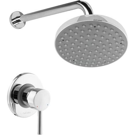 Duscharmatur Unterputz Regendusche rund Einhandmischer Duschkopf