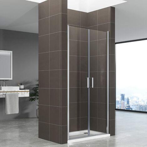 Duschbär - Duschtür STELLA, Nischentür aus 6 mm durchsichtigem Sicherheitsglas und - AC