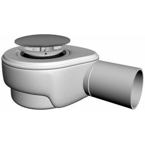 Dusche Ablaufgarnitur DN 50 Chrom Stopfen 60 l/min Ablaufbogen Geruchsverschluss Siphon Sifon Duschtassse Garnitur