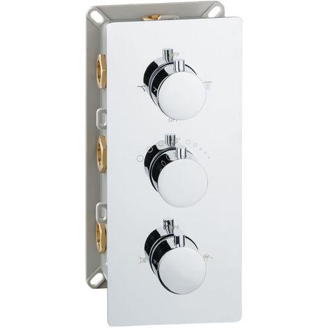 Dusche Unterputz Thermostat Vier Wege Mischbatterie Wannenarmatur Armatur Chrom Sanlingo