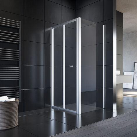 Duschkabine 80 * 100 aus Einscheiben-Sicherheitsglas eckdusche Duschtüren/Duschtrennwand für Badzimmer