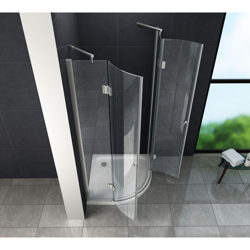 Fabulous Duschkabine ANGOLO 90 x 90 x 180 cm (Viertelkreis) ohne Duschtasse TR48