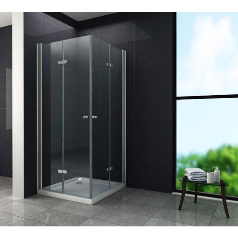 Duschkabine CLAP 80 x 80 x 180 cm ohne Duschtasse - 1019929907