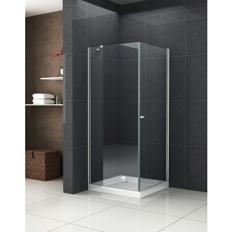 Duschkabine Deto-Fix 80 x 80 x 190 cm ohne Duschtasse ...