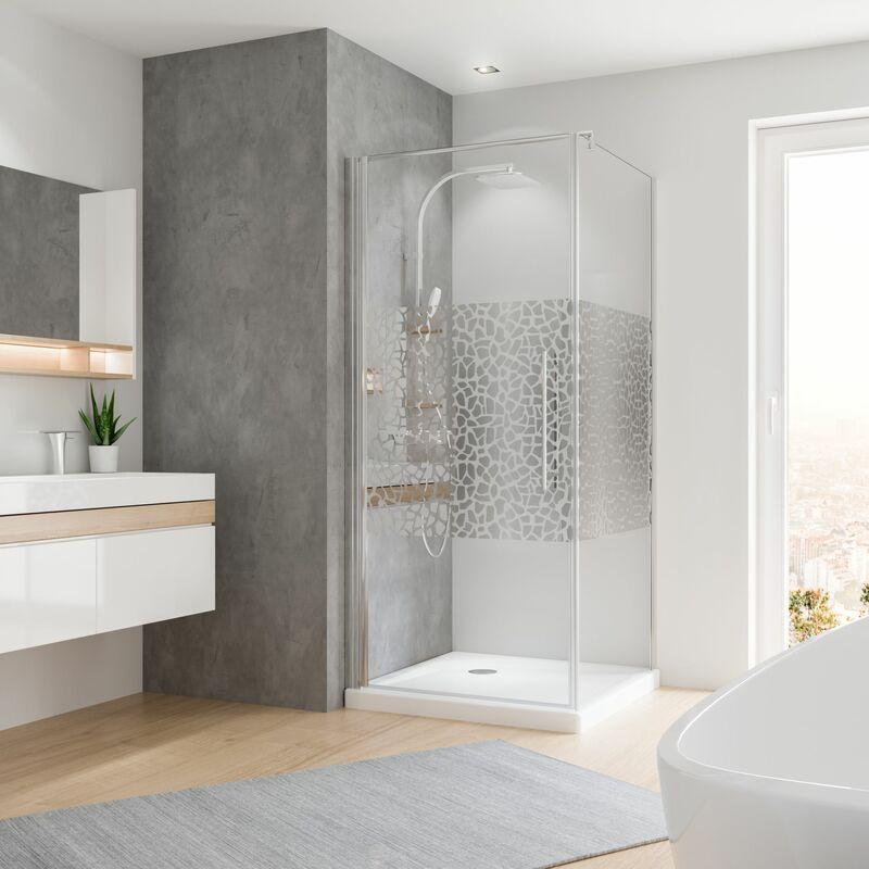 Duschabtrennung Eckeinstieg 75x90 80x80 90x90 Duschkabine Falttür mit Seitenwand