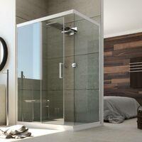 Duschkabine in PVC mod. Glax 1 Tür
