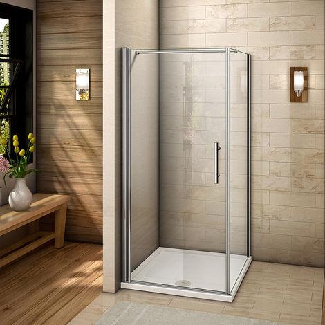 Duschkabine Schwingtür Eckeinstieg Duschabtrennung Schwingtür + Seitenwand  Mit Duschtasse