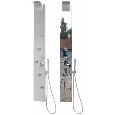 Duschpaneel Edelstahl Spiegelglanz Regendusche Wasserfall Dusche
